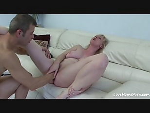Blonde sucking cock and...