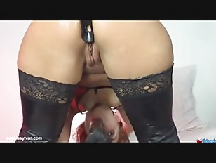 Picture Fucking Machine Fucks Her Mouth And Pussy