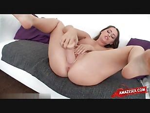 Busty model fun with her big dildo