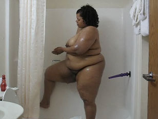 Fatty In Shower...