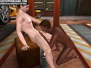 Picture Horny 3D Ebony Hunk Sucks Cock And Gets Fuck...