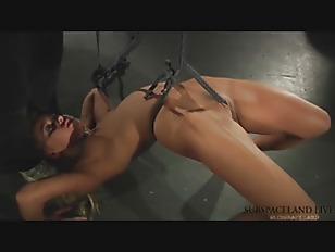 Rough Kinky Bondage Threesome LIVE BDSM Rough punishment