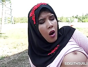 , FILTHY MUSLIM SLUT DOES A RIM JOB ON HER MAN