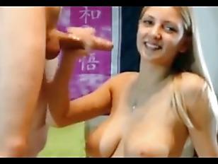 Blond big naturat boobs tits sucking big cock