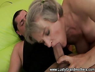 Granny amateur sucks dick after fucking with lucky guy