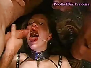 Picture Cumslut Licks The Floor After Orgy