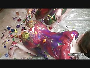 Picture Indigo And Lavender Get Erotic With Paint