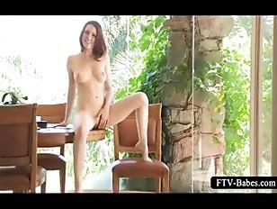 Picture Lovely CuteGirl Masturbates Pussy On The Tab...