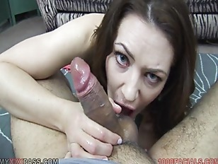 Picture Milf Sarah Shevon Slobbers On Cock And Gets...