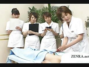 Subtitled CFNM Japanese Handjob...