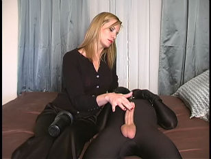Mistress Uses Rubber Vagina...