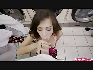 Picture Latina Gets Facial In Laundromat P1