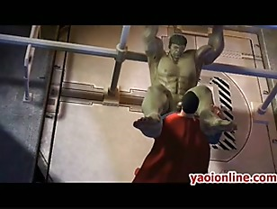 Picture Hottie Hentai Superman Assfucking A Big Guy