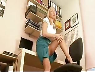 British Blonde Secretary...