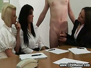 Picture Meeting Gets Naughty When The Ladies Stroke...