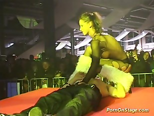 Picture Strapon Sex Show On Public Stage