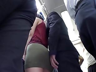 Horny beautiful japanese fucked on bus.