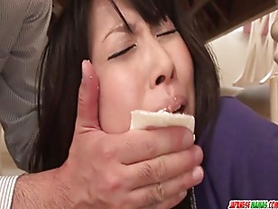 Picture Housewife Chihiro Kitagawa Chokes On A Cock