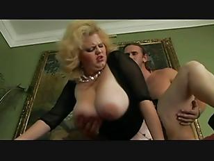 Big Boobs BBW Stepmom fuck on couch
