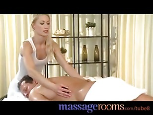 Massage Rooms Skinny Blonde Has Tight Pussy Filled