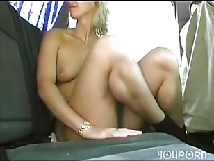 Picture Backseat Blonde Pussy Play
