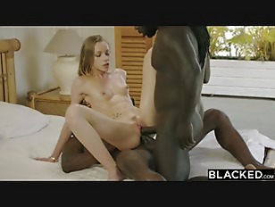 BLACKED Petite Blonde Gets Dominated By Two Monster BBCs