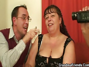 Fat Mature Bitch Swallows...