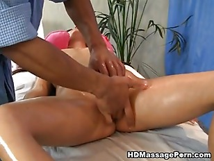 Picture Brunette Doing Massage And Masturbate Pussy