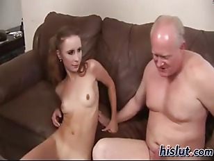 Picture Laila Lovely Redhead With Two Old Men