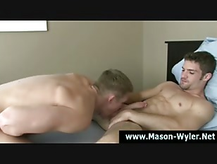 Mason wyler enjoys hot cock sucking action