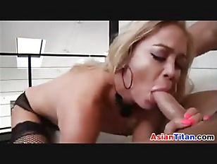 Blonde Asian Babe In...