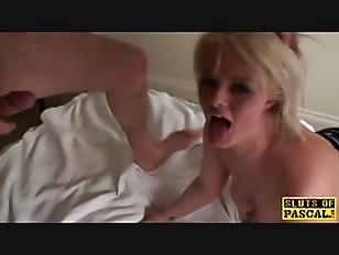 Brit Slut Throated Before...