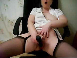 9 squirting wads on her forehead dripping down to her neck 2