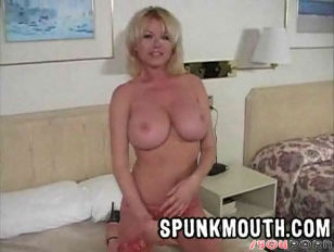Blonde spunk mouth