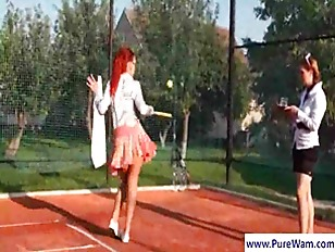 Picture Lesbians Gets Wild On Tennis Field