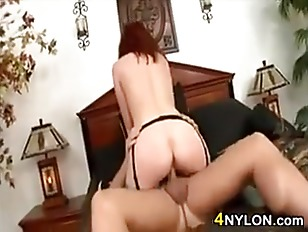Redhead Mother In Nylons...