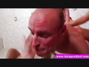 Picture Pegging Femdom Lovers Get Rough