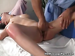 Picture A Massage Young Brunette Fucked In All Holes