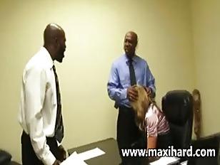 A Blonde Secretary Fucks...