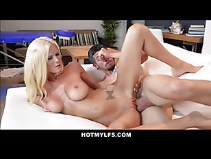 Skinny MILF Big Tits Blonde Step Mom Post Massage Family Fucking Step Son