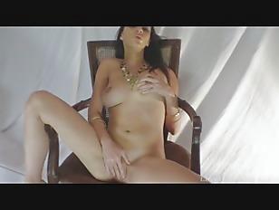 Cute Babe Masturbates While...