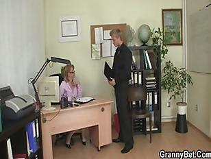 He Bangs Horny Office...