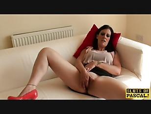Masturbating Busty Brit Squirting...