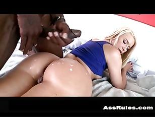 Big butt white girl takes big black dick p6