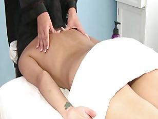 Babe Gives Lesbian Massage...