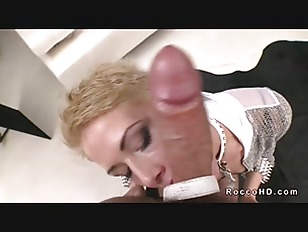 Picture Blonde On Leash Sucking Huge Dick Of Rocco S...