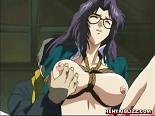 Bondage hentai teacher gets squeezed her bigtits and poked