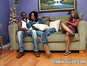 Treesome Interracial and Blowjob...