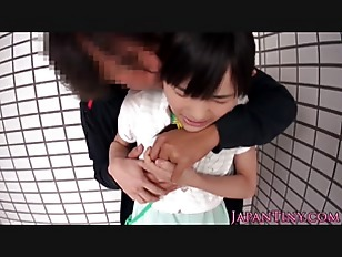 Facefucked Petite Japanese Jizzed...