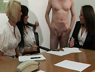Picture Naked Guys Hard Dick Gets The Cfnm Sluts Goi...
